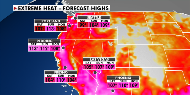 Excess heat warnings apply in the Pacific Northwest