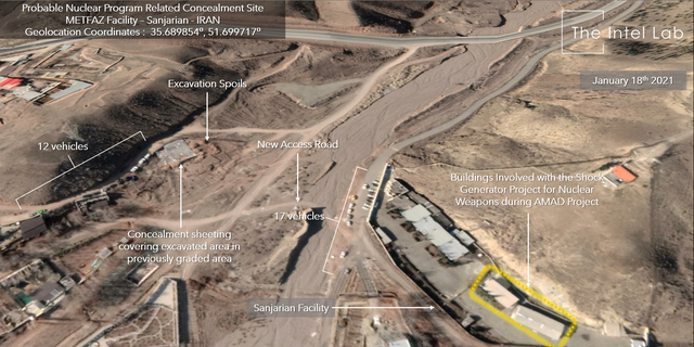 Satellite images shows the site as of Jan. 18, 2021