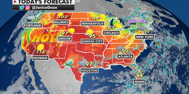 The national forecast for Monday, June 14. (Fox News)