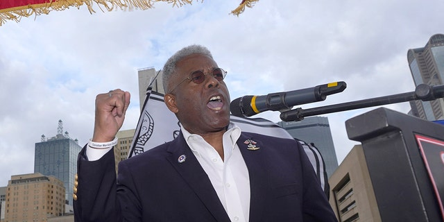 Allen West speaks to supporters of President Donald Trump during a rally outside of City Hall in Dallas, Nov. 14, 2020. (Associated Press)