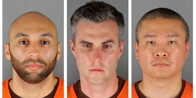 From left are former Minneapolis police Officers J. Alexander Kueng, Thomas Lane and Tou Thao. (Hennepin County Sheriff's Office via Associated Press)