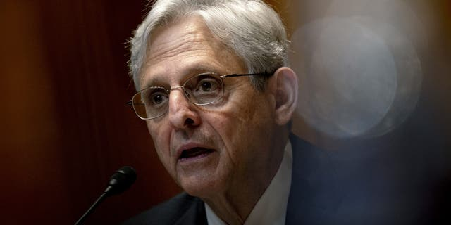 Attorney General Merrick Garland speaks during a Senate Appropriations Subcommittee on Commerce, Justice, Science, and Related Agencies hearing, 水曜日, 六月 9, 2021, on Capitol Hill in Washington. (Stefani Reynolds/The New York Times)