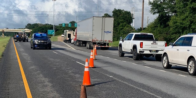 Traffic was diverted on Saturday with I-65 Northbound closed near Greenville, Alabama, closed. The interstate has since reopened. (Photo: Greenville Police Chief Justin Lovvorn)