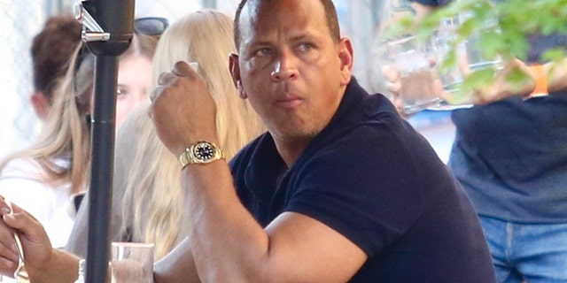 Alex Rodriguez was spotted eating at Bar Pitti on June 5, 2021 in New York City, New York.  The former Yankee Yankee is believed to be hunting for apartments in Tribeca and the Upper West Side.  (Photo by LRNYC / MEGA / GC Images)