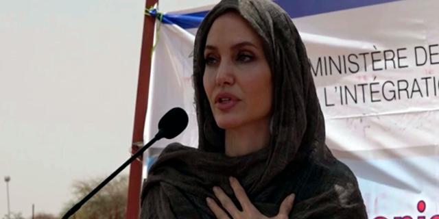 Angelina Jolie speaks in Burkina Faso