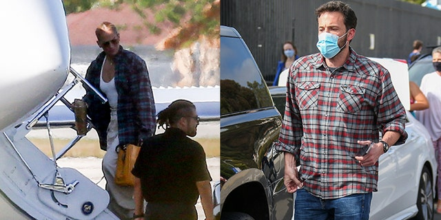 Jennifer Lopez wears what appears to be Ben Affleck's shirt during outing.jpg
