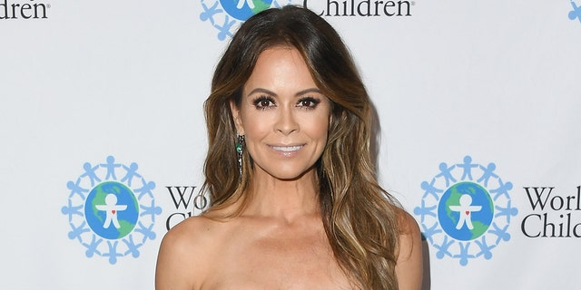 Brooke Burke showed off her toned figure in a post celebrating the launch of her 28-day fitness program.  (Photo by Jon Kopaloff/Getty Images)