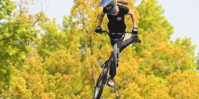 BMX rider Chelsea Wolfe last year threatened to burn an Olympic flag on the podium.