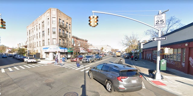 The former cop was struck by a bullet at East 3rd Street and Church Avenue in the Kensington section of Brooklyn.