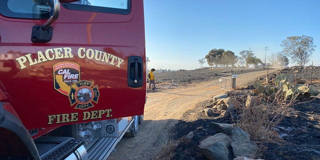 Placer County Fire Department responded to the scene of the Intanko fire in Northern California.  (Credit: Cal Fire)