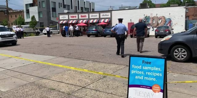 A shooting at Philadelphia's popular Federal Donuts in Center City sent a 13-year-old boy and a man to the hospital early Thursday afternoon, police said.