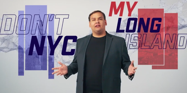 Republican candidate George Santos launches his campaign for the House of Representatives in New York's 3rd Congressional District, in a campaign video on June 10, 2021.