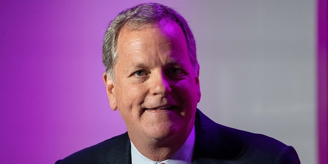 American Airlines CEO Doug Parker is pictured in March 2020. He recently attended the wedding of a Southwest Airlines flight attendant who he met last year soon after the death of George Floyd. (Photo by NICHOLAS KAMM/AFP via Getty Images)