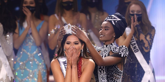 Miss Mexico Andrea Meza is crowned Miss Universe 2020 onstage at the 69th Miss Universe competition at Seminole Hard Rock Hotel & Casino on May 16, 2021, in Hollywood, Florida.
