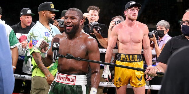 MIAMI GARDENS, FLORIDA - JUNE 06: Mayweather made at least $35 million from the $50 million that was made off of pay-per-view sales from his fight with Logan Paul this month. (Photo by Johnny Nunez/Getty Images)