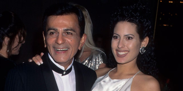 Radio Personality Casey Kasem and daughter Carey Kasem in 1996.