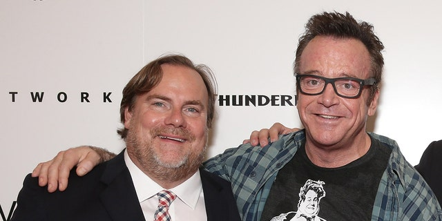 Kevin Farley with Tom Arnold.
