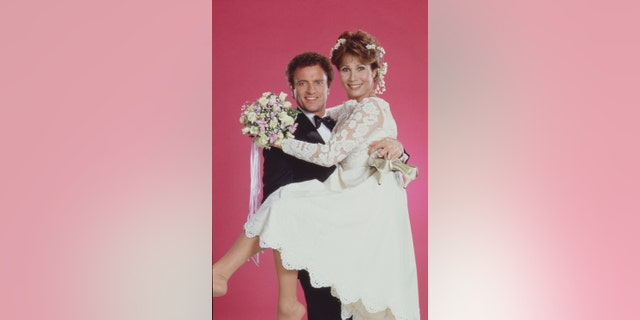 Kevin Dobson and Michele Lee, circa 1983. The stars bonded on the set of 'Knots Landing.'