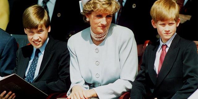 Princess Diana, seen here with Prince William (left) and Prince Harry, died in 1997 at the age of 36 from injuries sustained in a car crash in Paris.