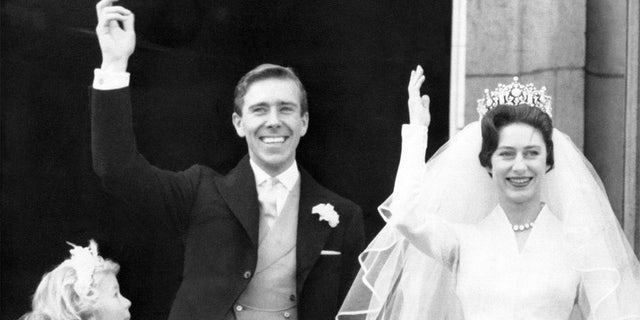 Princess Margaret married photographer Antony Armstrong Jones in 1960.