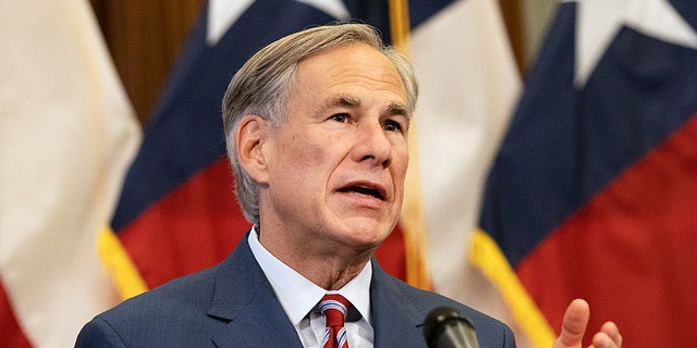 AUSTIN, TX - MAY 18: Texas Governor Greg Abbott at a press conference at the Texas State Capitol in Austin on Monday, May 18, 2020.
