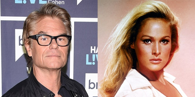 Harry Hamlin revealed that he and Ursula Andress met at a cast dinner.