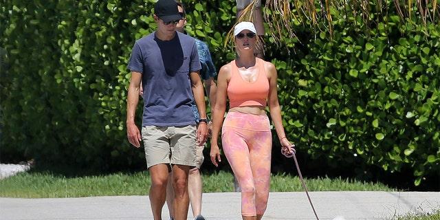 Ivanka Trump spotted this week walking her dog in Miami with husband Jared Kushner. (MEGA)