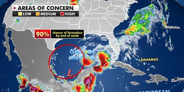 An area of disturbed weather will likely become a tropical depression on Thursday