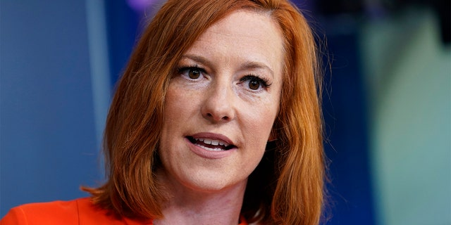 White House press secretary Jen Psaki speaks during the daily briefing at the White House in Washington, Monday, June 21, 2021. (AP Photo/Susan Walsh)
