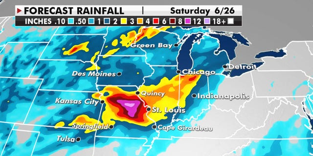 """Current models project areas in Missouri could see more than 10"""" of rain."""