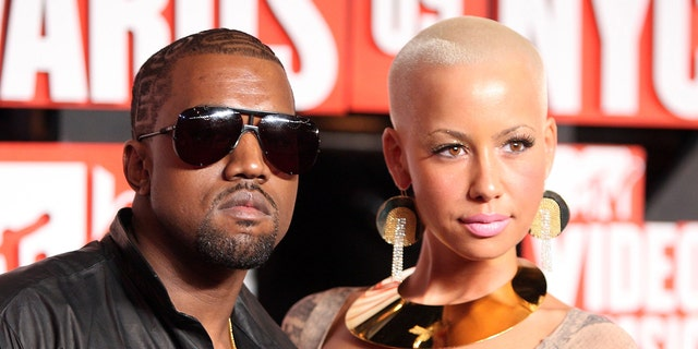 Amber Rose has blamed Kanye West's interest in Kim Kardashian for their breakup.  (Photo by Michael Loccisano / Getty Images)