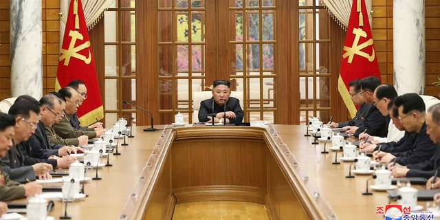 In this photo provided by the North Korean government, Kim Jong Un attends a meeting in Pyongyang, North Korea, Friday, June 4, 2021.