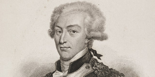 Portrait of Marie-Joseph-Paul-Yves-Roch-Gilbert Motier (1757-1834), Marquis of Lafayette, French general, politician, engraving by Hopwood from Histoire de la Revolution Francaise (History of French Revolution), volume I, by Adolphe Thiers, published by Furne, Jouvet et Compagnie, Paris, 1880. (Photo by Icas94 / De Agostini via Getty Images)