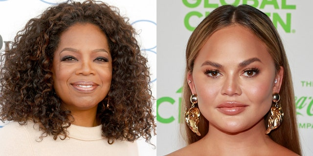 Chrissy Teigen, right, is reportedly looking to Oprah Winfrey for help in saving her reputation amid bullying claims.