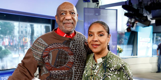 """TODAY -- Pictured: (l-r) Bill Cosby and Phylicia Rashad appear on NBC News' """"Today"""" show."""