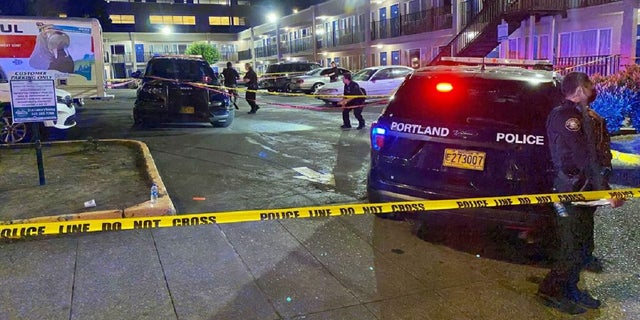Portland Police released an image of the crime scene where a man was fatally shot by police on June 25, 2021. (Portland Police Bureau)