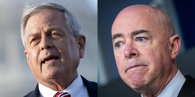U.S. Rep. Ralph Norman, R-S.C., left, and Homeland Security Secretary Alejandro Mayorkas faced off on Capitol Hill on Thursday.