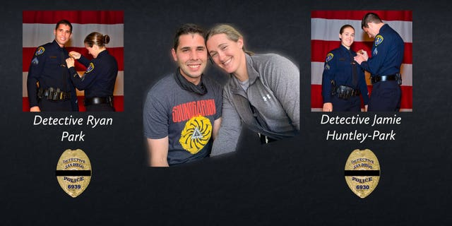 Detectives Jamie Huntley-Park and Ryan Park died Friday, June 4 after a wrong-way driver crashed into their car on the highway.