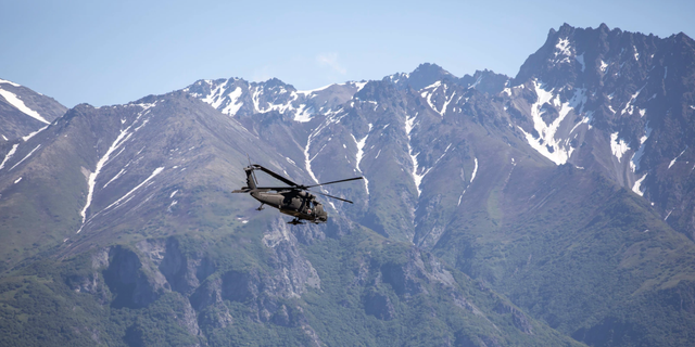 Alaska Army National Guard's 1st Battalion, 207th Aviation Regiment searching for Fina Kiefer on Tuesday.