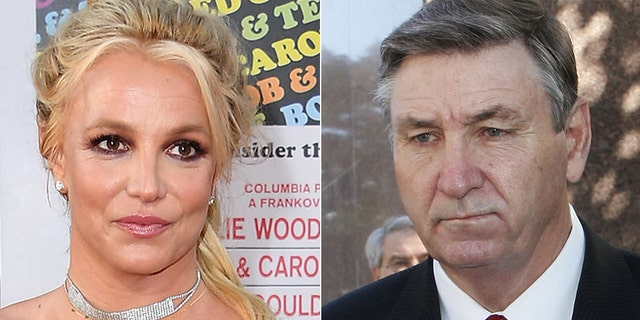 Jamie Spears (R) filed a petition to end theconservatorship over his daughter Britney (L).