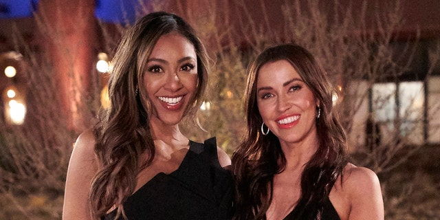 Tayshia Adams and Kaitlyn Bristowe will host the upcoming season of 'The Bachelorette.' (Craig Sjodin/ABC via Getty Images)
