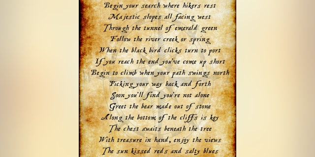 Cline and Maxim launched the Utah Treasure Hunt last week when they posted this poem on social media. (Courtesy of David Cline)