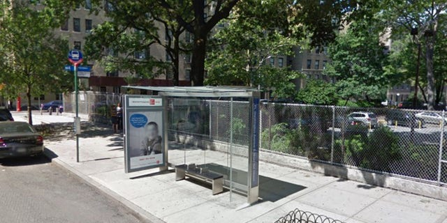 Julio Aponte allegedly attacked his wife in front of a bus stop on Monday.  (Google Maps)