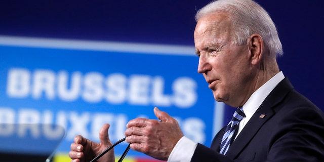 Biden rips GOP, Trump overseas in break from political norm