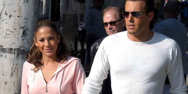 Ben Affleck and Jennifer Lopez were spotted at Wolfgang Puck's new restaurant at the Pendry hotel in West Hollywood. The couple is pictured here in 2003.