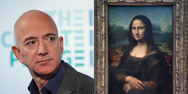 Bezos became the first man to top $200 billion in net worth this year. Leonardo da Vinci's Mona Lisa is on permanent display in the Louvre.