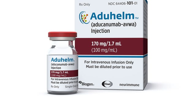 This picture, made available by Biogen on Monday, June 7, 2021, shows a vial and packaging for the drug Aduhelm.  On June 6th, 2021, the Food and Drug Administration approved Aduhelm, the first new drug for Alzheimer's disease in nearly 20 years, ignoring warnings from independent advisors that the much-discussed treatment has not been shown to help slow the brain.  Destroy disease.  (Biogen via AP)