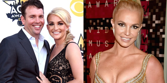 Watson, 对, is married to Jamie Lynn Spears, 中间, who is the younger sister of Britney Spears.