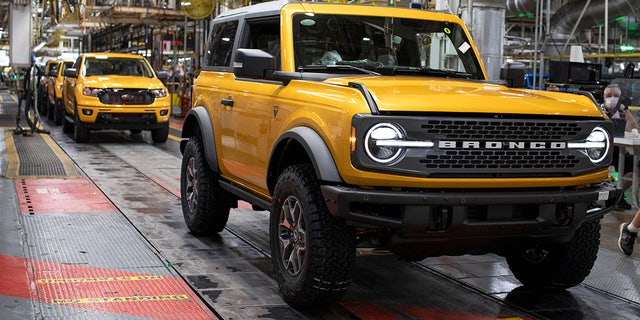 The Bronco is assembled on the same line as the Ford Ranger pickup.