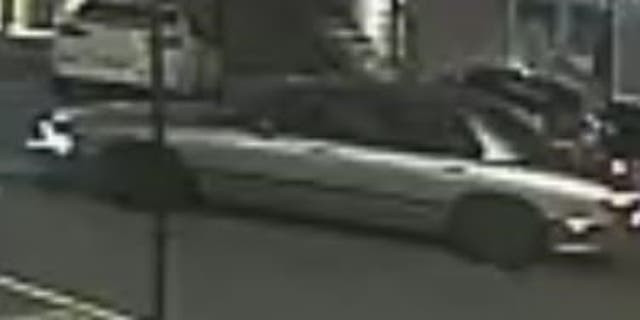 Police say the shooting suspect fled the scene in this 90s model Buick.